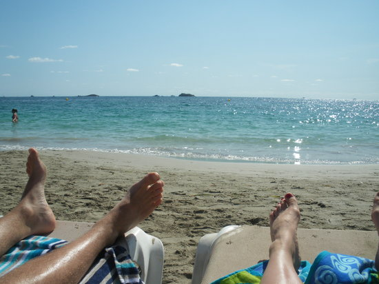 My Tivoli Ibiza Apartments: our lovely little beach at the end of our road