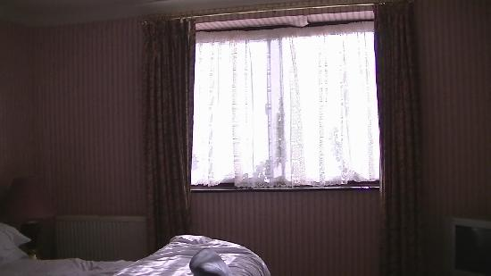 Royal Court Hotel - Coventry: Window would not open enough, and wall paper peeling.