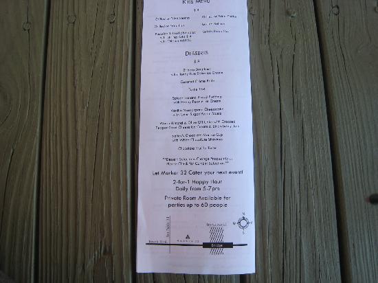 Marker 32 : Backside of menu