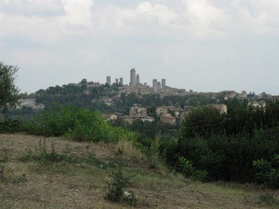 Trattoria Borgo di Racciano: il panorama...San Gimignano