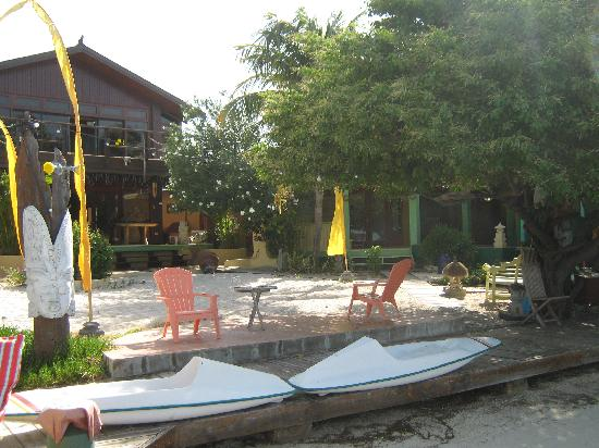 Aruba Reef Beach Apartments: Canoes included.