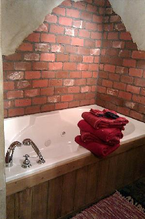 CAdy Carriage House B&B: Jetted tub and lots of towels