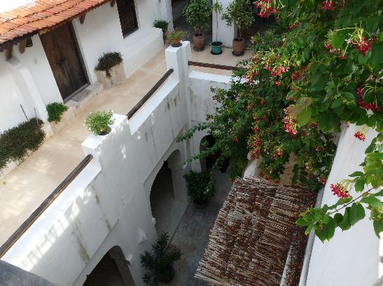 Subira House: The patio from the above