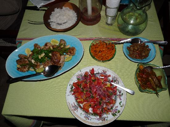Subira House: Our dinner