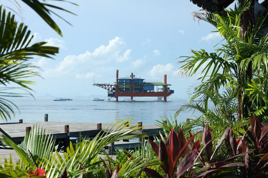 Seaventures Dive Rig: view from the Mabul Island