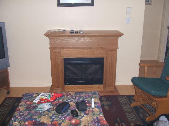 Cranton's Cottages: eletric fire place