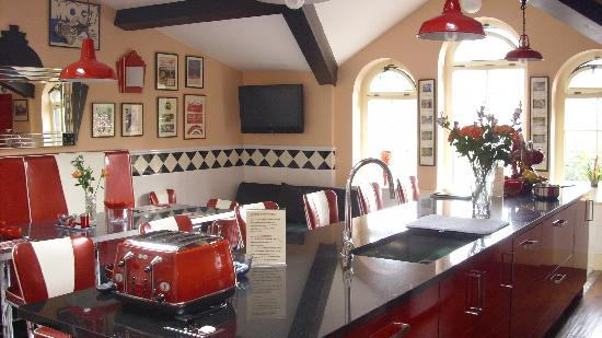 The PitStop Boutique Hotel: The awesome kitchen.