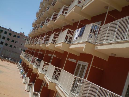 Hotel HSM Don Juan: hotel from my balcony