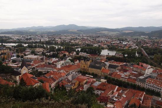 Pension Tiberia: Looking out at the city from the castle