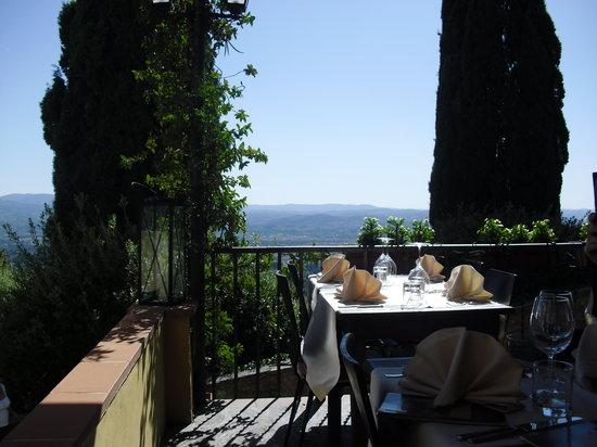 Fiesole, Italia: terrazza su firenze