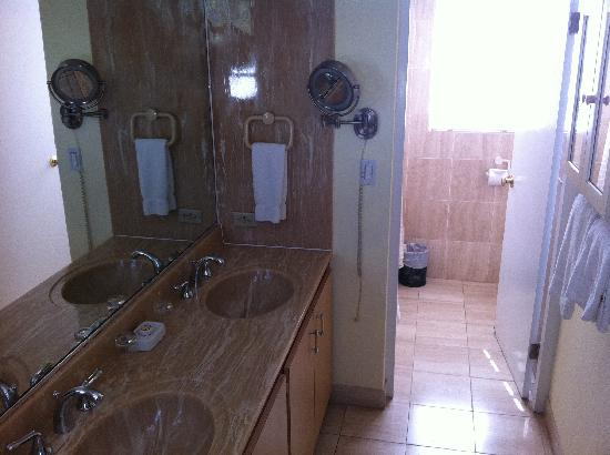 Fourways Inn: Sinks and shower