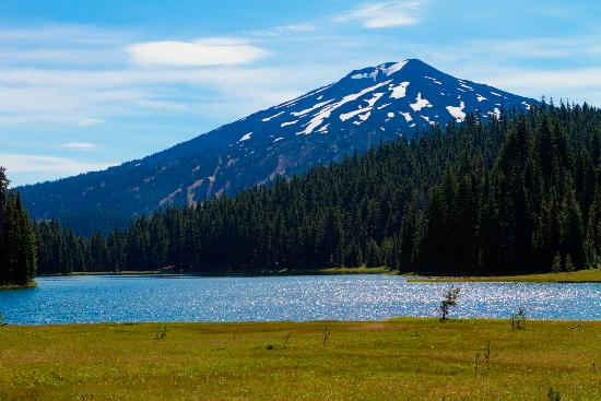 Bend, OR: Todd Lake - view of Mt Bachelor