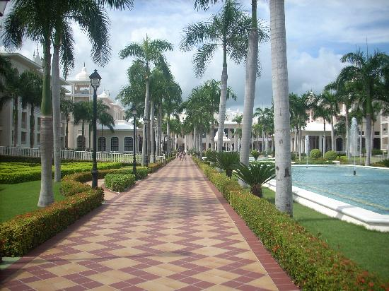 Hotel Riu Palace Punta Cana: calle central de jardines