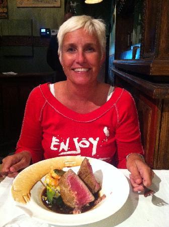 Tuna steak at aZafran