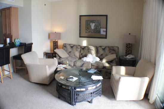 Sterling Breeze: Livingroom in a one bedroom condo