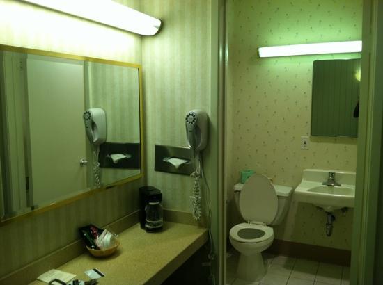 Los Gatos Lodge: Clean restroom.