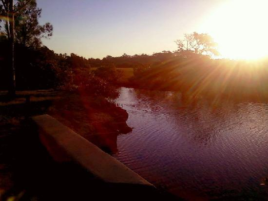 Lani's Holiday Island: A sunset by the creek at the back of the park