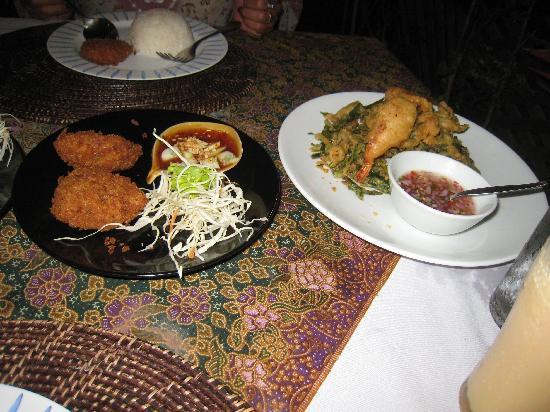 Restaurant K-Siri: Thai Fishcakes plus the Prawn & Morning Glory Temupra