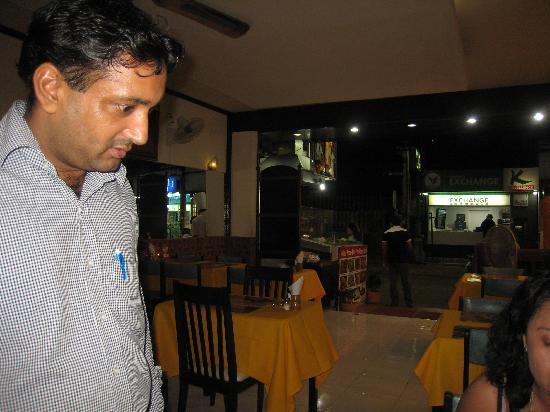 Noori India: Front of Noori Restaurant and manager, Singh