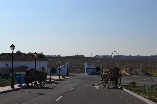 Cortijo de Ducha: The gate and vista beyond