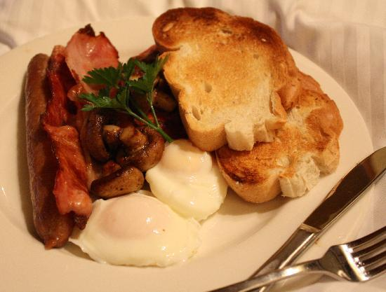 Hermitage Lodge: Cooked Breakfast