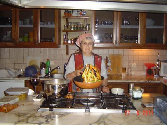 AlKaBriS: Mrs. Kazuk prepares dinner.