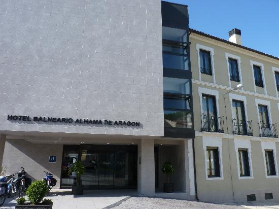 Alhama de Aragon, Spain: entrada hotel