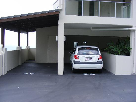 Whitsunday Reflections: our car park & apartment