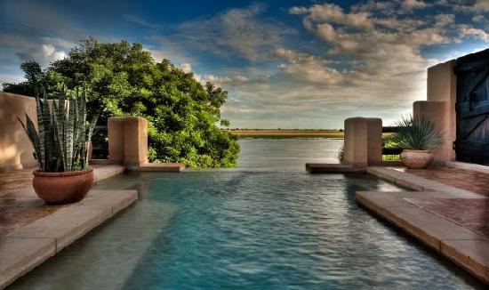 Chobe National Park, Botswana: The exclusive and private plunge pool of one of the suites (the same suite enjoyed by Elizabeth