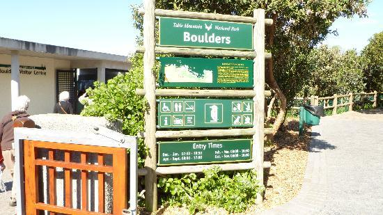 Boulders Beach: Board at the entry