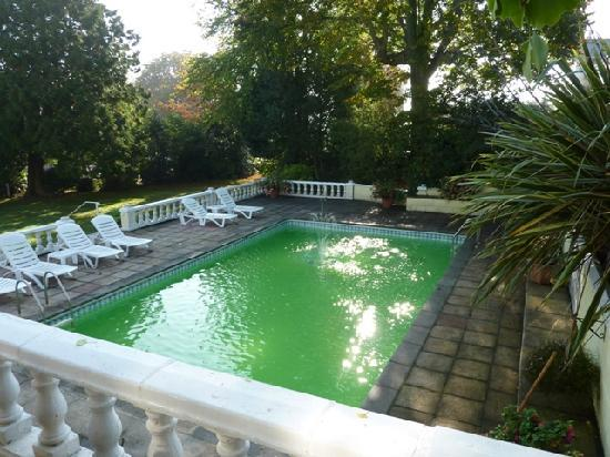 The Coppice: Green-tinged outdoor pool