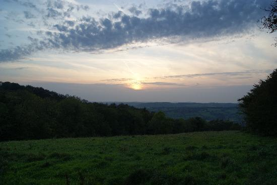 Brynheulog B&B: Sun set