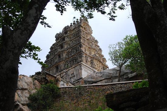 Mysore, India: Yoga Narasimha temple atop a hill