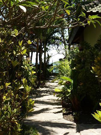 Cili Emas Oceanside Resort: Blick vom Resort Richtung Meer