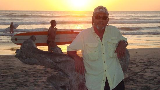 Nosara Paradise Rentals: the beach at sunset