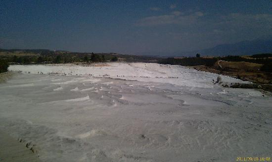 Pamukkale Thermal Pools: the slope we were supposed to walk down..