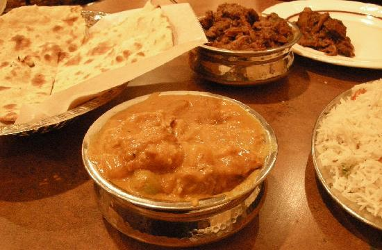 Crown Of India: Lamb Mushrooms and Chicken Kashmir + Tandoori Roti