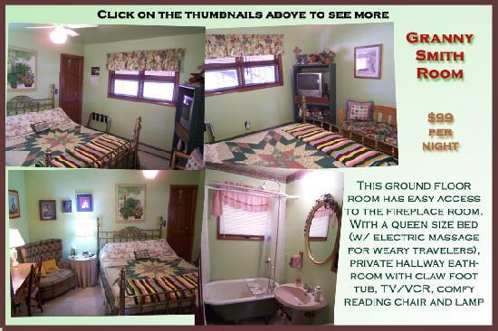 AppleLodge Bed and Breakfast: Granny Smith Room-Queen Bed