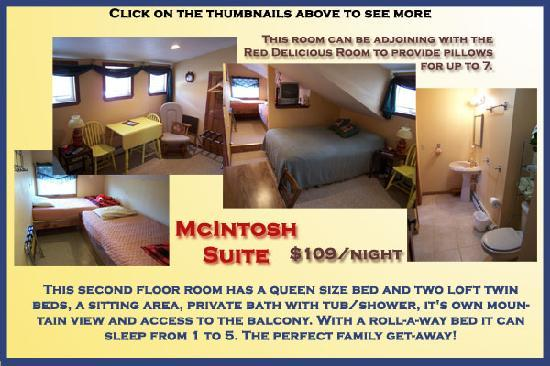 AppleLodge Bed and Breakfast: McIntosh Suite- Queen and 2 Twins