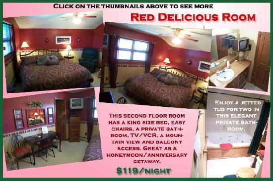 AppleLodge Bed and Breakfast: Red Delicious Room-King Bed and Jetted Tub
