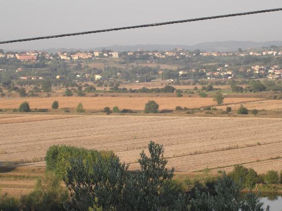Casale di Brolio: uitzicht vanaf voorzijde B&B