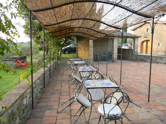 إل كاستيلو دي بيبيون: Eating Area Above the Pool