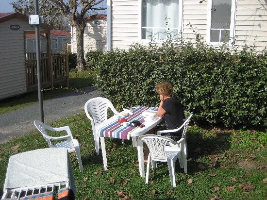 Biarritz Camping: End of our 'garden'