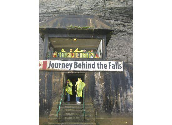 Journey Behind the Falls: Entrance to the platform