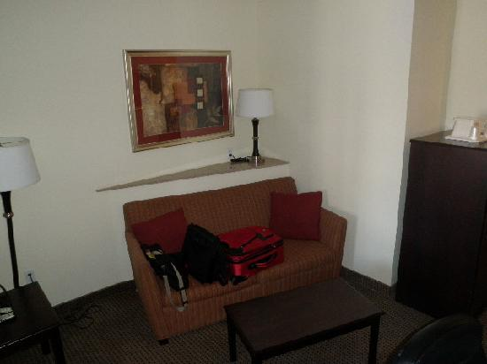 Comfort Suites University: Living Area