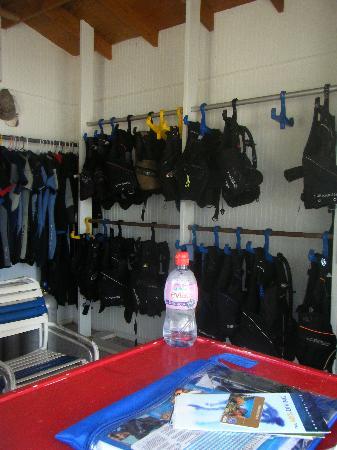 Jolly Dive Center: Equipment room