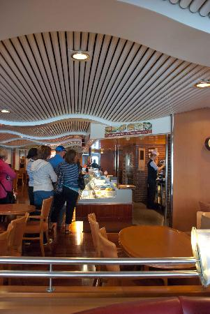 Irish Ferries: One of several cafes on board