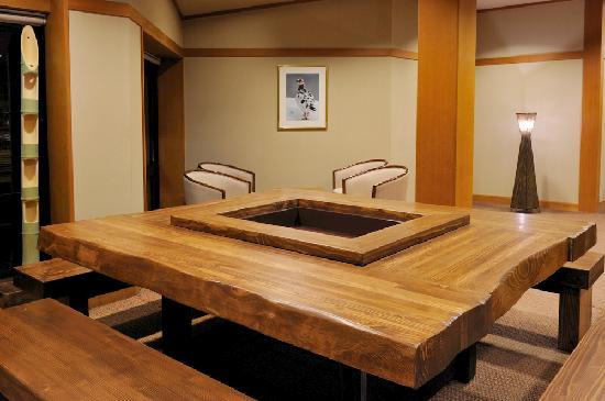 Hakuba Onsen Ryokan Shiroumaso: Hearth lounge