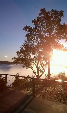 The White River Inn: 300' of fog overlooking White River with Bald Eagles flying above.