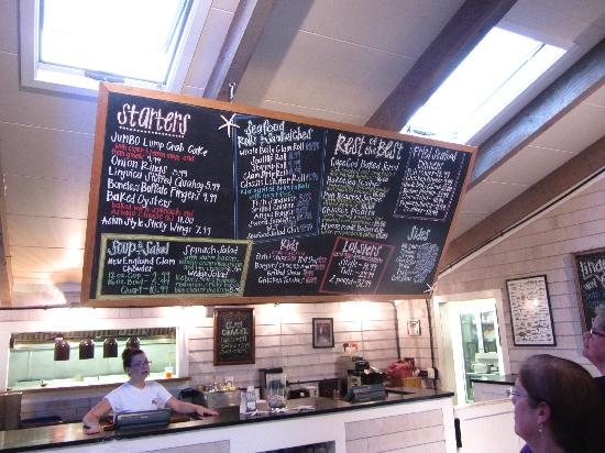 The Lobster Trap Fish Market and Restaurant : Plenty of options to choose from.